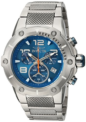 Invicta Men's Speedway Swiss-Quartz Watch with Stainless-Steel Strap, Silver, 30 (Model: 19527)