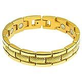 Divoti Rugged Link PVD Gold 316L Magnetic Bracelet for Men-70