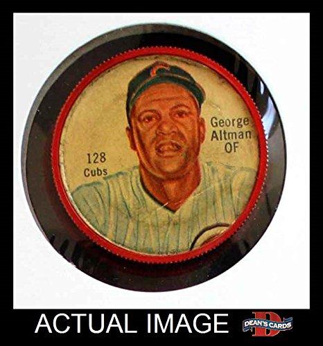 1962 Salada Coins # 128 George Altman Chicago Cubs (Baseball Card) Dean's Cards 2 - GOOD Cubs (Salada Baseball Coins)