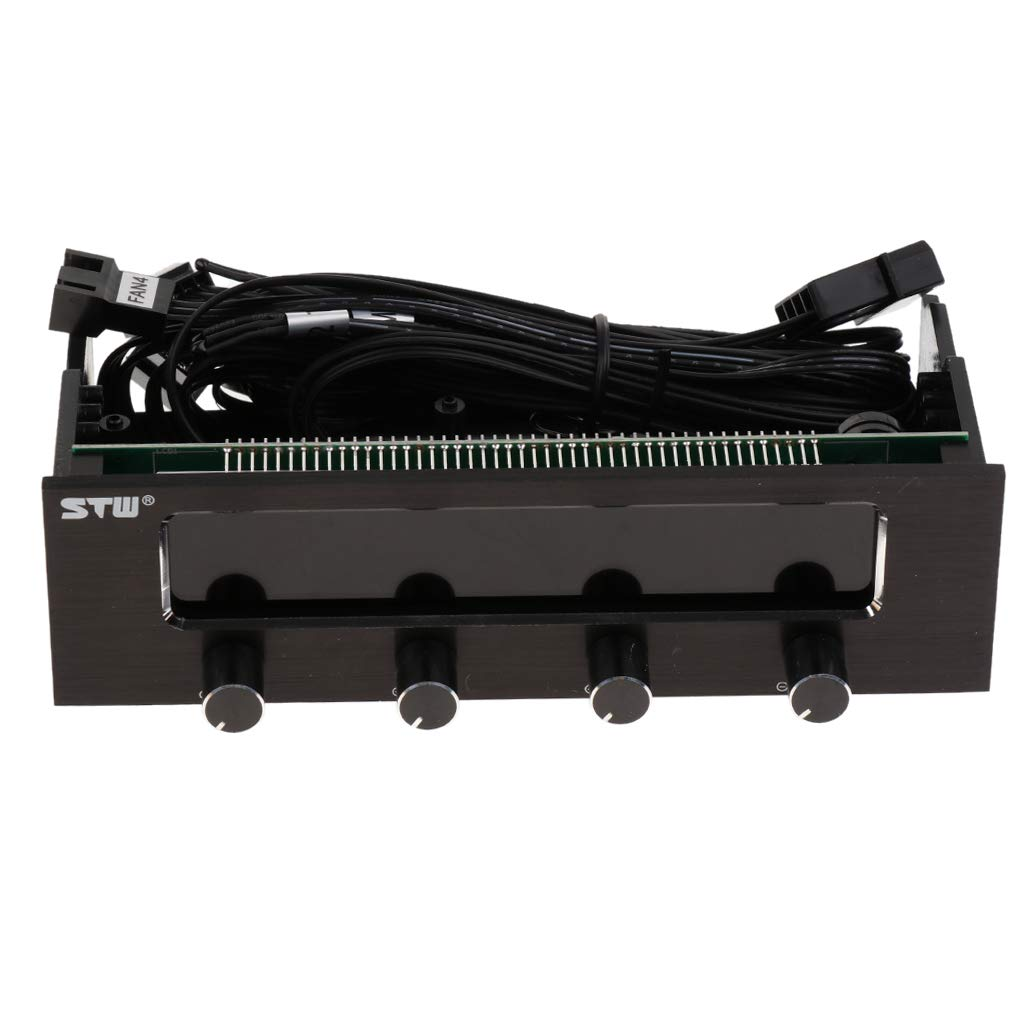 Homyl 4 Channel Fan Controller Panel w/Wide LCD Display Temperature Monitor by Homyl (Image #5)