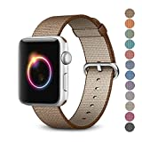 Amazon Price History for:Woven Nylon Replacement Band for the Apple Watch by Pantheon, Women's or Men's, Strap fits the 38mm or 42mm for Apple iWatch 1, 2, 3 and Nike edition
