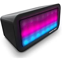Sharper Image Sound-Responsive Wireless Bluetooth Speaker with Animated LED Light Show (Black)