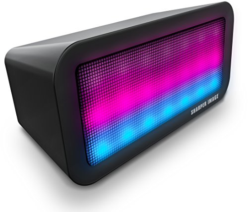 Sharper Image Sound-Responsive Wireless Bluetooth Speaker with Animated LED Light Show (Black) -  Southern Telecom, SBT618BK