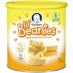 Gerber Lil' Beanies White Cheddar & Broccoli, 1.59 Ounce (Pack of 6)