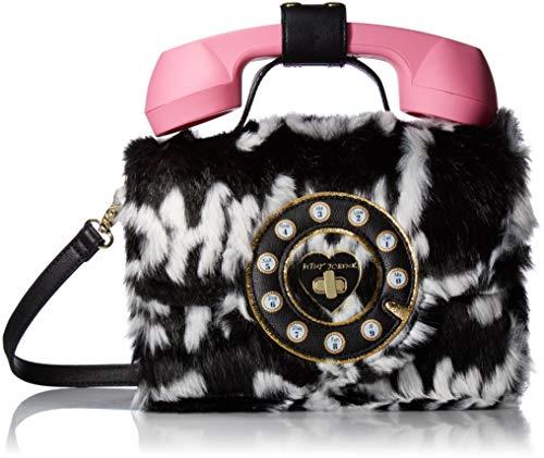 Hello Johnson Betsey Phone Bag Cream Black wPwYq4g6