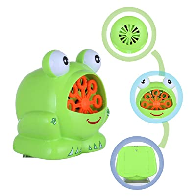 Shipped from The United States,Websa_ Automatic Bubble Machine Blower Maker Party Summer Outdoor Toy for Kids Green: Clothing