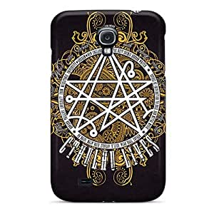 Great Hard Phone Cover For Samsung Galaxy S4 (MCs18353YGGX) Provide Private Custom Fashion Metallica Pattern