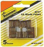 Bussman BP/ATC-5-RP 5 Amp Blade Fuse 5 Count