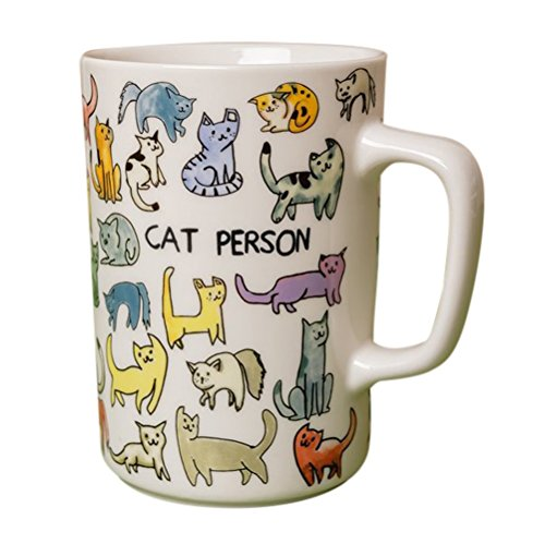 (Fishs Eddy Cat Person 16oz Ceramic Coffee/Tea Mug)
