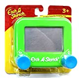 Ohio Art Pocket Etch A Sketch Green With Blue Knobs