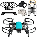 #7: Kuuqa 5 Pcs Accessories Kits for Dji Spark, Including 2 In 1 Propeller Guard with Foldable Landing Gear, Gimbal Camera Guard, Lens Hood, Finger Guard Board, Joystick Protector (Dji Spark Not Included)
