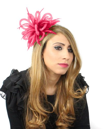 Mini Crin Feather Fascinator - Hot Pink by Hats By Cressida