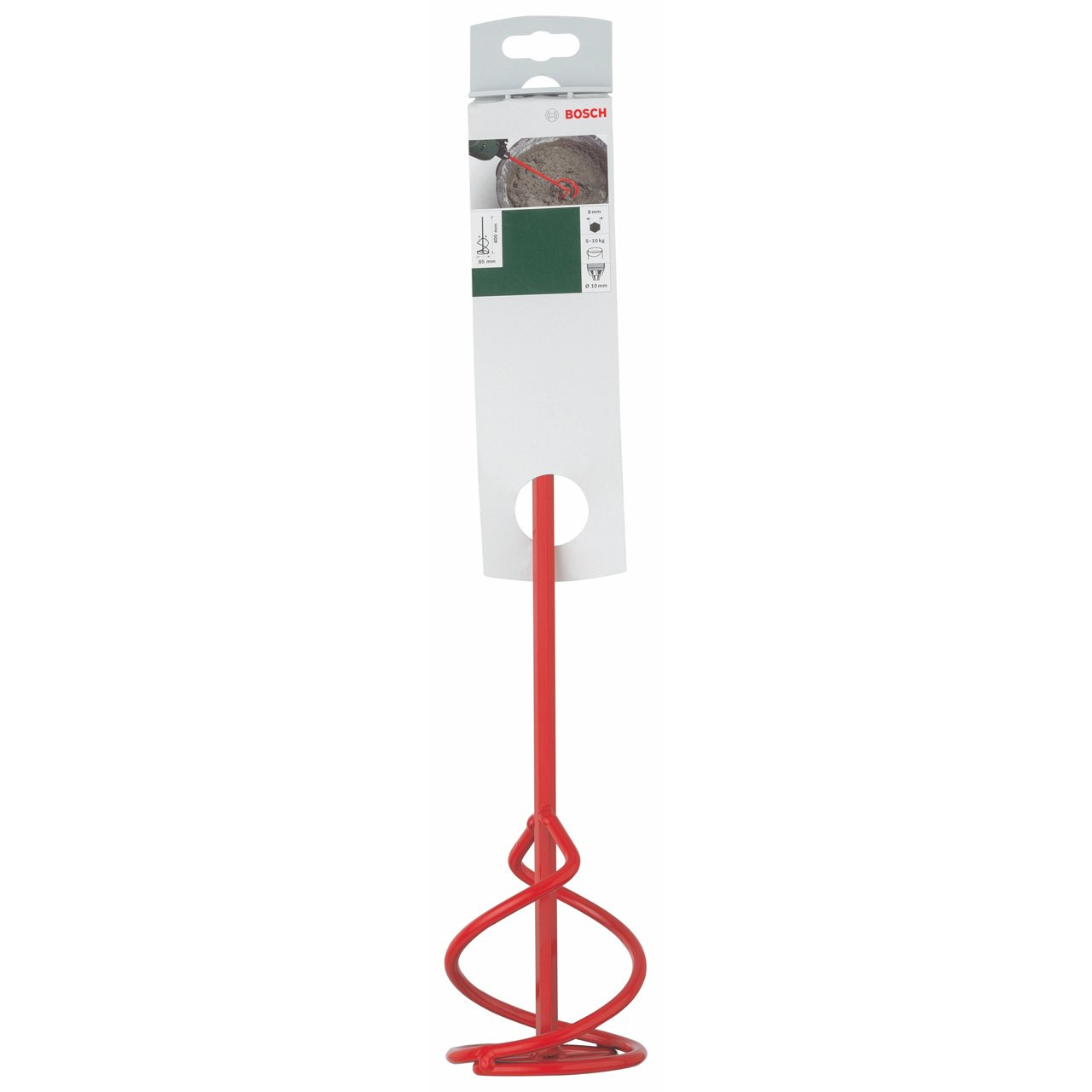 Bosch 2609256A01 Malaxeur produits collants et souples Type MM pour Perceuse Diam/ètre 85 mm Longueur 400 mm pour malaxage de 5 /à 10 kg