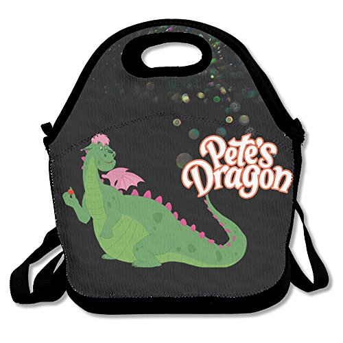 Bekey Pete's Dragon Mr. Meacham Lunch Tote Bag Lunch Box For Women Adults Kids Girls For Travel School Picnic Grocery Bags