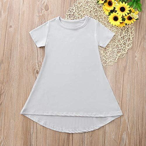 Mommy Daughter Toddler Baby Kids Girl Solid Irregular Dress Family Dresses