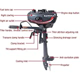 Pinty 2 Stroke 3.5HP Heavy Duty Outboard Motor Boat Engine with Water Cooling System