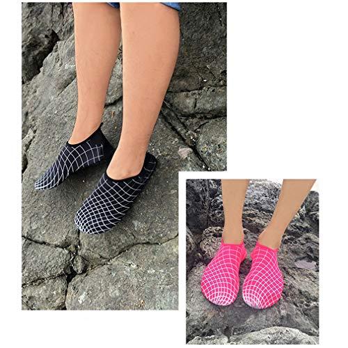 Léger À Chaussures Bain Rose Unisexe Piscine Rouge Femmes Séchage Eau Hehong Rapide Hommes Barefoot De Aqua Sport Grille BCqttwIAx