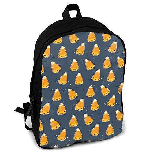 (Giinly Corn Candy Halloween Pattern Full-Size Printed Custom Multipurpose School Bag Backpack Travel)