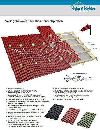 Top Bitumenwellplatten Set schwarz Compact: 8 Stück je 1000 x 750 mm VO49