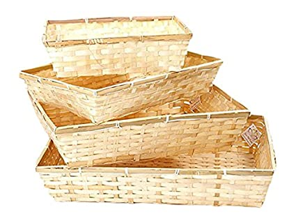 The Small Beale Wholesale Carton Of 25 Bamboo Tray Basket Storage Basket Gift Ideas Make A Great Gift Basket Or Hamper