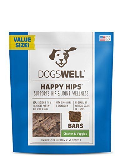 Dogswell Happy Hips Dog Treats, Chicken & Veggies, 28 Ounce