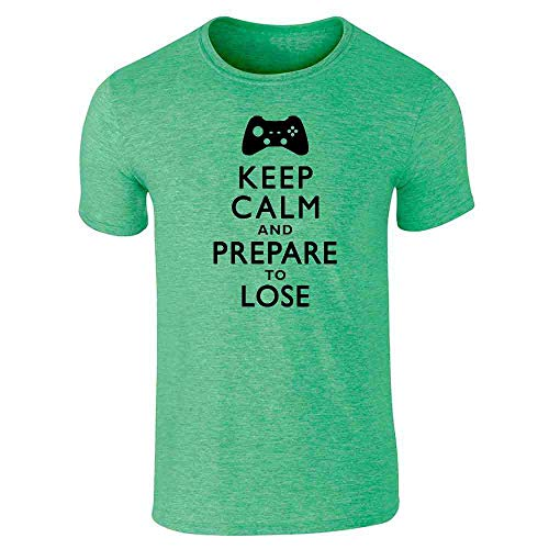 Keep Calm and Prepare to Lose - XB Heather Irish Green L Graphic Tee T-Shirt for Men (Grand Theft Auto San Andreas Car List)