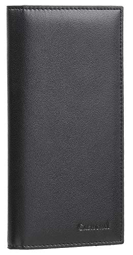 Casmonal Genuine Leather Checkbook Cover For Men & Women Checkbook Holder Wallet RFID -