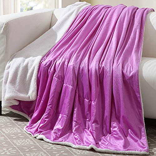 Blanket Cashmere - Soft Fleece Blankets Winter Layer Bed Solid Bedspreads Home Textile Decorative Children Gifts - Inspirational Fabric Large Sleeves Hotel Throw Hearts Unicorn Leopard -