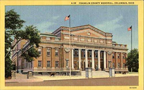 - Franklin County Memorial Columbus, Ohio Original Vintage Postcard