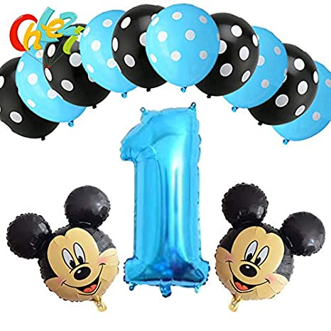 Amazon.com: Globos de cumpleaños para niño de color azul, 13 ...