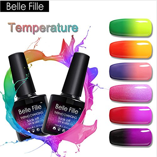 Belle Fille Temperature Change Gel Nail Polish UV LED Therma