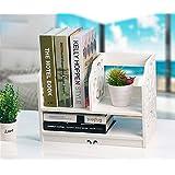Prettybuy Creative Eco-Friendly Curves Desk Organizer Shelf for Books, Jewelry, Little Flower Pot, Desk Decoration, Style A White