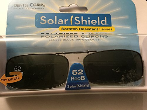 Solar Shield Driving Lens 52 Rec 8 Polarized Clip on Sunglasses 100% Uva/uvb Protection by Solar - Sunglasses Perth