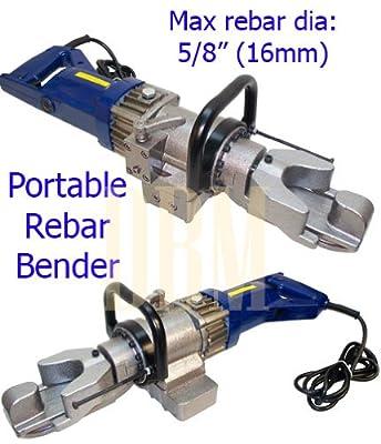 "110 Volt 800 Watt Portable Hydraulic Electric Rebar Bender Bending 5/8"" (16MM)"