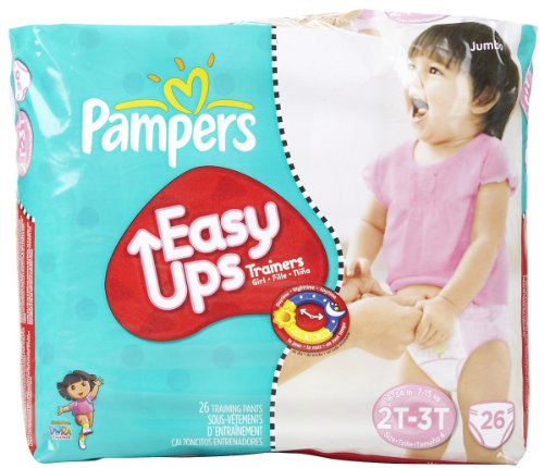 Pampers Easy-Ups Training Pants for Girls – Jumbo Pack Size 2T-3T (4), Health Care Stuffs
