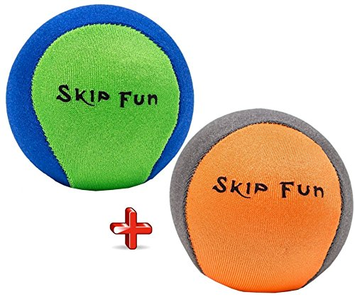 Ball Water Games - Skip It Pool Bouncy Balls: Water Swimming Sports Games for Kids and Adults. Best Skipping Throw Waterball Toy for Lake, Ocean Surf and Travel. Hours of Extreme Summer Fun for the Entire Family!