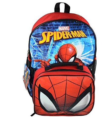 "Price comparison product image 2018 Spider-man 16"" Backpack With Lunch Bag"
