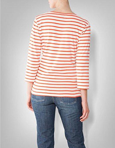 Gant Damen T-Shirt Baumwolle Shortsleeve Gestreift, Größe: L, Farbe: Orange  ...