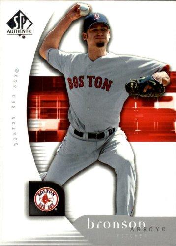 2005 Sp Authentic Baseball Card - 2005 SP Authentic Baseball Card #16 Bronson Arroyo