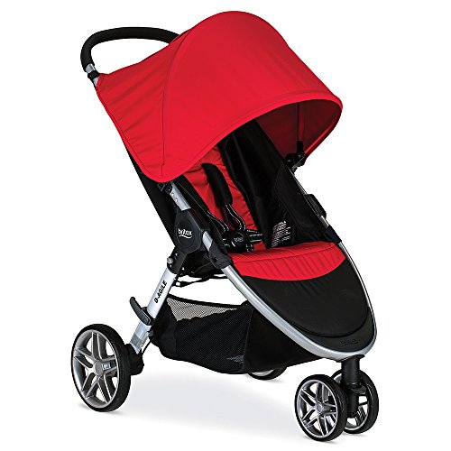 Britax 2016 B-Agile Stroller, Red (3 Wheel Strollers compare prices)