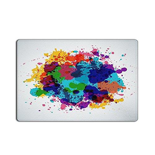FunnyLife Floor Mat Colorful Painting Inkjet Graffiti Non-woven Fabric Door Mat