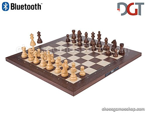 DGT Bluetooth Rosewood e-Board with TIMELESS pieces - Electronic chess - chessgamesshop.com by DGT e-board