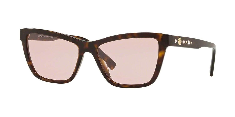 Dark Havana Frame Versace VE4354B Sunglasses 108//5-55 Pink VE4354B-108-5-55