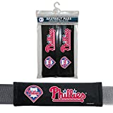 MLB Philadelphia Phillies Seat Belt Pad (Pack of 2), One Size, White