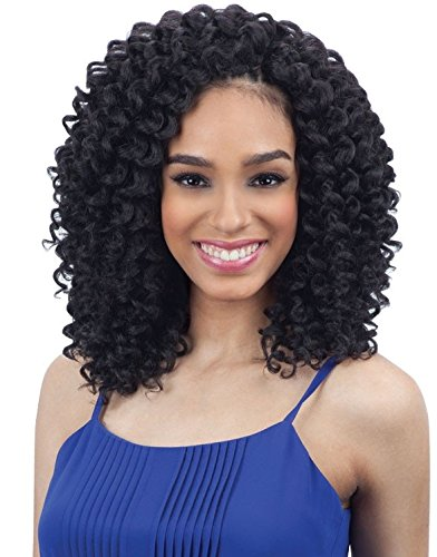Milkyway Bubbly Wand Curl Que Human Hair Blend Weaving Hair (1B)