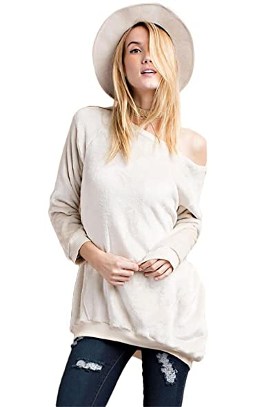 Amazon.com: Fleece Pullover Tunic Top: Clothing