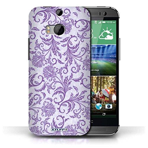 Etui / Coque pour HTC One/1 M8 / Fleurs Mauves conception / Collection de Fleurs