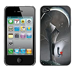 For Apple iPhone 4 / iPhone 4S / 4S,S-type® Art Deep Love Meaning Painting - Arte & diseño plástico duro Fundas Cover Cubre Hard Case Cover