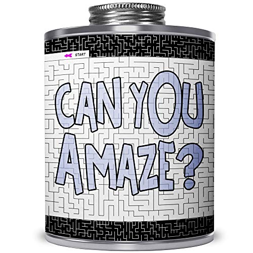 CAN You Amaze? The Popular Maze Puzzle Challenge CAN. Gift for All Ages. for Fuor Fun or Stress Relief. A Game and an Eye-Catching Way to Show Off Your Talent on a Unique Art Deco Can. (Medium Level)