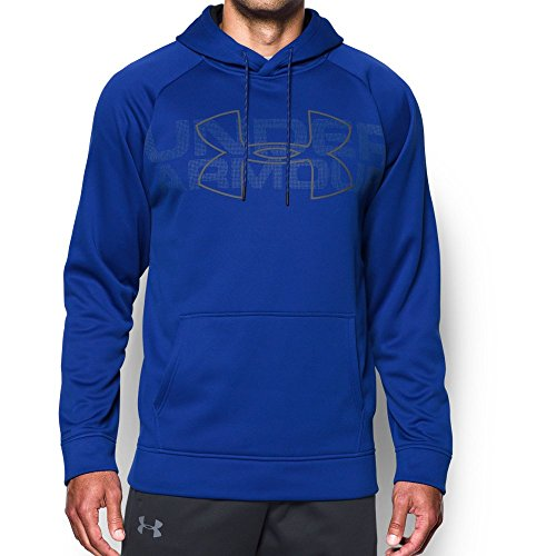 Under Armour Mens Armour Fleece Graphic Hoodie, Royal (400)/Graphite, Small